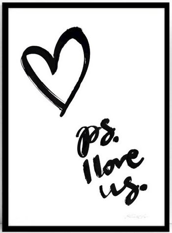 Poster PS I love us 50x70