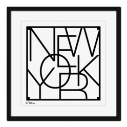 Poster  New York 50x50